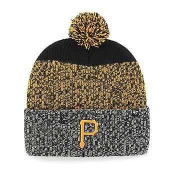 47 Brand Knit Beanie - Cuff Pittsburgh Pirates schwarz
