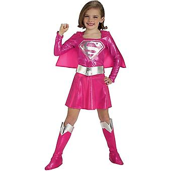 Pink Supergirl Costume Toddler & for Kids 5-7 year old