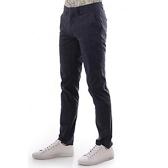Ted Baker Mens Canadr Slim Fit Checked Trousers Reg