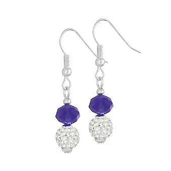 Eternal Collection Majestic Royal Blue Crystal Drop Pierced Earrings