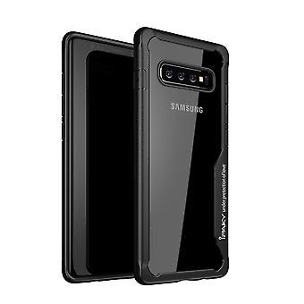 IPAKY Samsung Galaxy S10 + TPU Hybrid Shell-Black