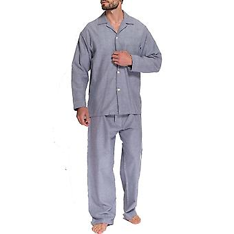 British Boxers Ash Grey Herringbone Men's Pyjama Set
