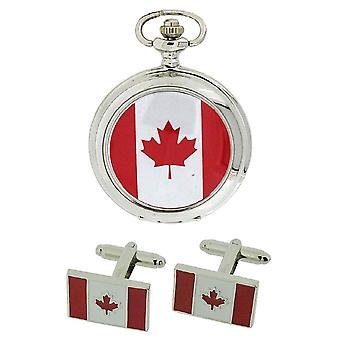 Boxx Canadian Flag Pocket Watch With 12