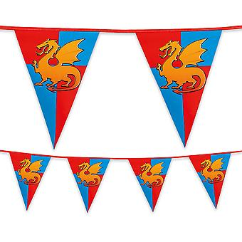 Medieval Knight Plastic Bunting 6m Long Childrens Boys Birthday Party Decoration