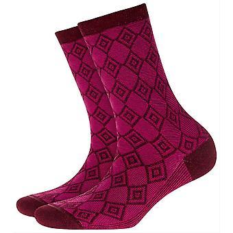 Burlington Ladywell Diamond Socks - Grey/Black