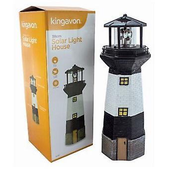 Solar Light House med roterende lys 38CM