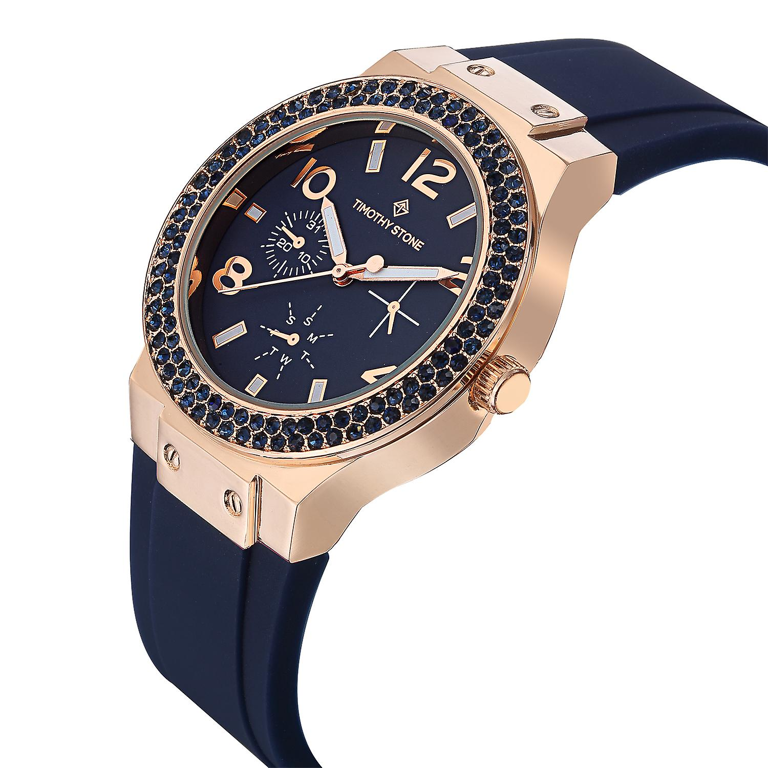 Timothy Stone Women's FA�ON-SPORT Rose Gold-Tone and Blue Strap Watch