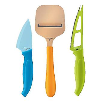 Zassenhaus Set of 3 Easy Cut Coloured Cheese Knives