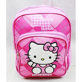 Mini Backpack - Hello Kitty - Pink Checker School Bag Book Girls 82080