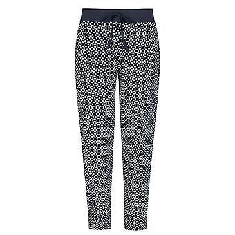 Mey 16962-408 Femmes-apos;s Night2Day Isi Night Blue Geometric Print Cotton Cropped Pyjama Pant