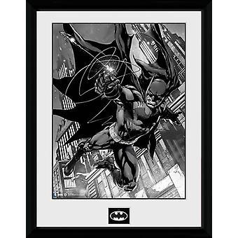 Batman Comic Hook gerahmt Collector Print 40x30cm