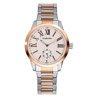 ORPHELIA Mens analoog horloge fijne ambachtelijke zilver/Rose Gold roestvrij staal 122-8704-82