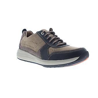 Clarks Un Coast Form  Mens Brown Leather Lifestyle Sneakers Shoes