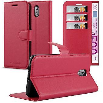 Cadorabo Case voor Nokia 3,1 2018 gevaldekking-telefoon geval met magnetische sluiting, stand functie en kaart compartiment-Case cover geval geval geval geval boek vouwen stijl