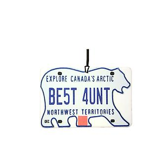 NORTHWEST TERRITORIES - Best Aunt License Plate Car Air Freshener