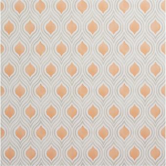 Burnt Orange Geometric Papier peint Beige Crème Pâte Fine Décor Ailsa