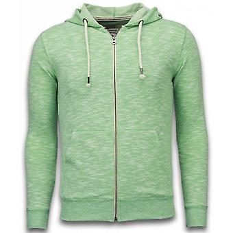 Casual Cardigan-Melange Zen Fleece-Green