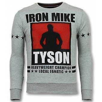 مايك تايسون سترة -- الحديد مايك البلوزات -- رمادي