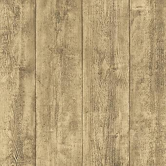 A.S. Creation AS Creation Wooden Beam Pattern Wallpaper Faux Wood Effect Embossed Panel 708816