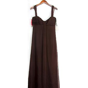 Amsale Bridal Full-Length Sleeveless Dress Brown Solid Womens