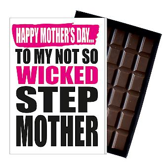 Funny Step Mother's Day Gift Boxed Chocolate Present Rude Greeting Card for Mum Mummy MIYF104