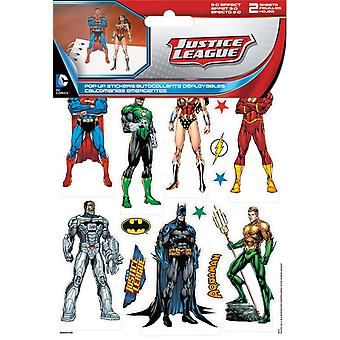 Sticker pop-up-DC Comics Justice League 3D nieuwe speelgoed games st5130