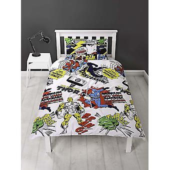 Marvel Comics Scribble Single Duvet Cover