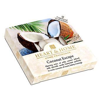 Kokosowe pole ucieczki z herbaty światło świece