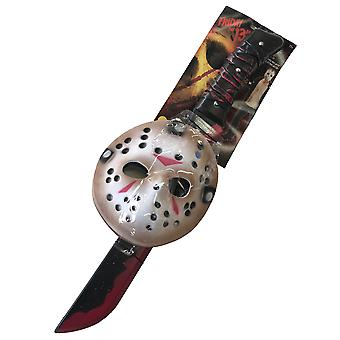 Jason Voorhees Friday The 13th Horror Men Costume Mask Machete Kit