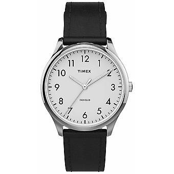Timex | Easy Reader 32mm | Black Leather Strap | White Dial | TW2T72100 Watch