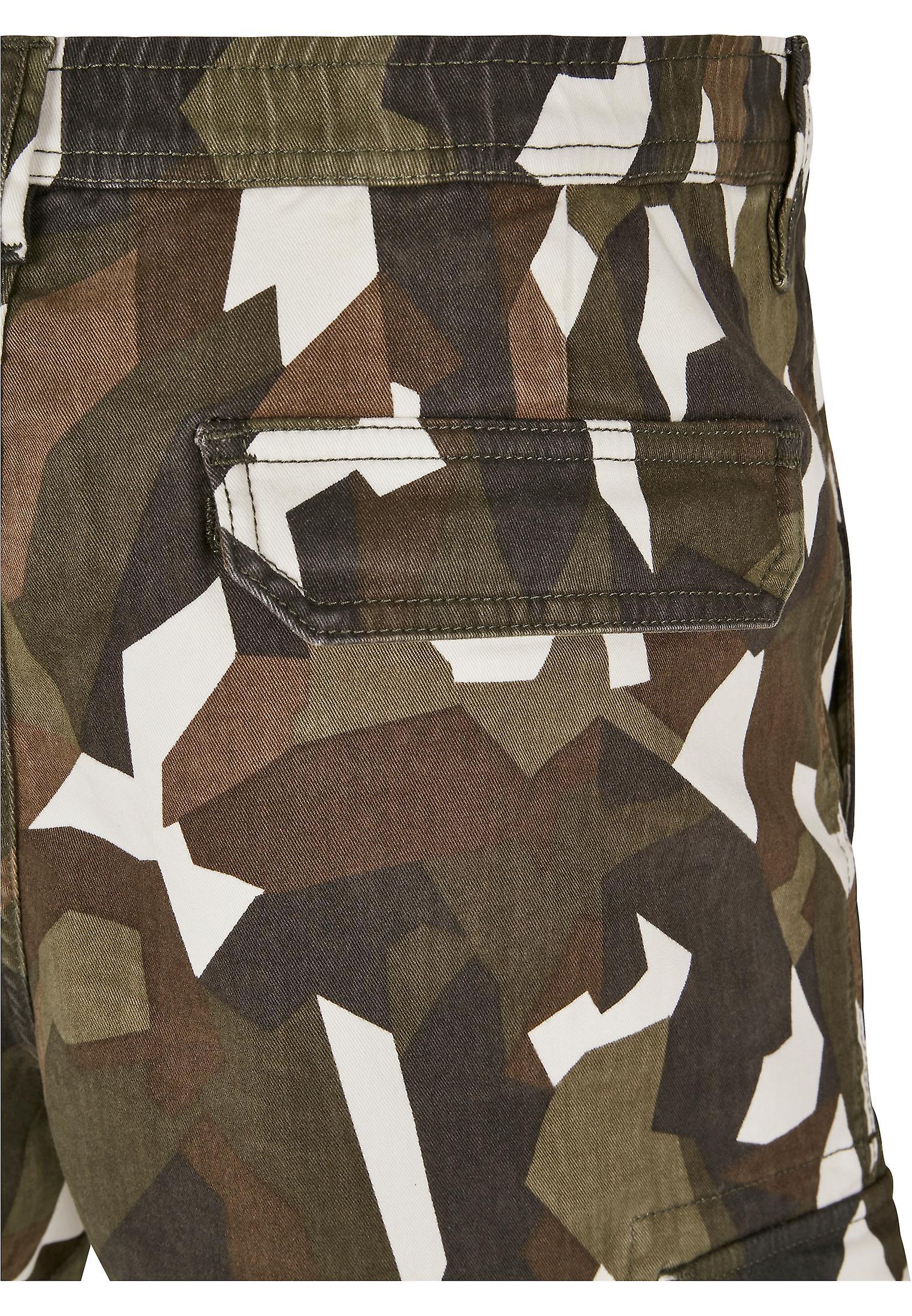 Urban Classics Herre Cargo bukser geometrisk camo stretch twill