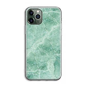 IPhone 11 Pro Max Funda transparente (suave) - mármol verde