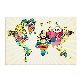 Deco Panel, mapa arte pop mundial
