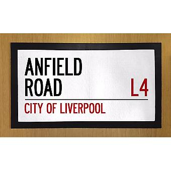 Printed Bar Runner Anfield Road Rubber Bar Mat Mens Gift Idea