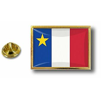 Pins Pin Badge Pin's Metal  Avec Pince Papillon Drapeau Acadie Acadien