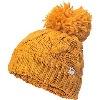 Rip Curl Powder Pom-Pom Bobble Hat in Mustard