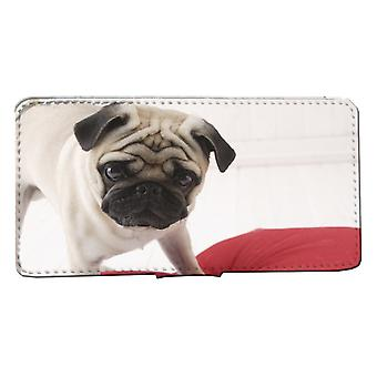 iPhone 7/8 wallet case: Pug dog Shell Case Mops