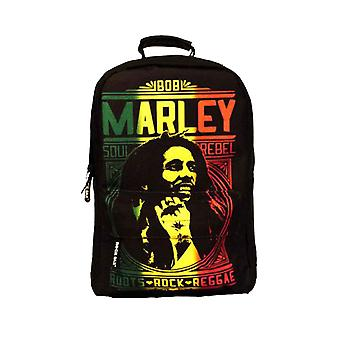 Bob Marley Backpack Rucksack Bag Roots Rock Reggae logo new Official Black