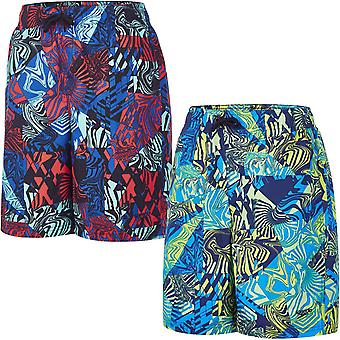 "Speedo Boys Kids Astro Ignite Stampato 17"" Piscina Spiaggia Spiaggia Water Swim Shorts"