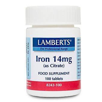 Lamberts Iron 14mg Tablets 100 (8243-100)