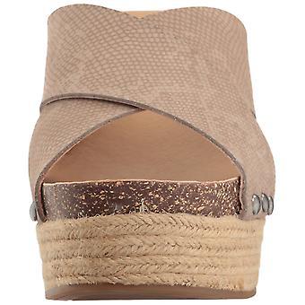 Gelukkig merk Womens neeka Open teen Casual schuif sandalen