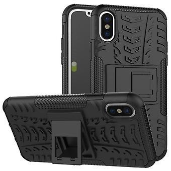 Nex Style Hybrid Case 2teilig Outdoor Schwarz für Apple iPhone XR 6.1 Zoll Tasche Hülle Cover Schutz