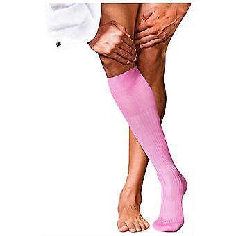 Falke No10 Pure Fil D'Ecosse Knie hohe Socken - Pfingstrose Rosa