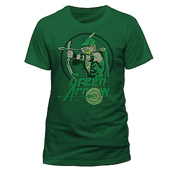 Green Arrow Unisex Adults Circle T-Shirt