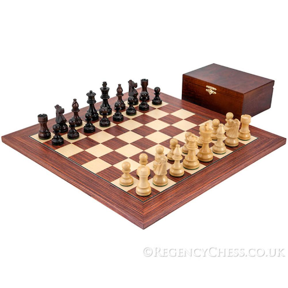 French Knight Europa Rosewood Chess Set