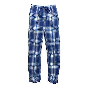 Cyberjammies 6427 Männer's Buzz Blue Check Baumwolle gewebt Pyjama Hose