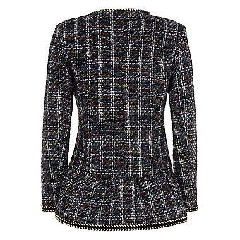 Darling Women's Purple Elsa Checked Jacket M UK 12