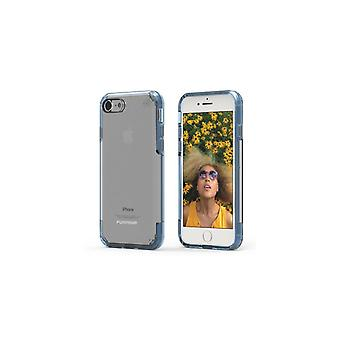 PureGear Slim Shell Pro Case for Apple iPhone 8/7 - Clear/Blue