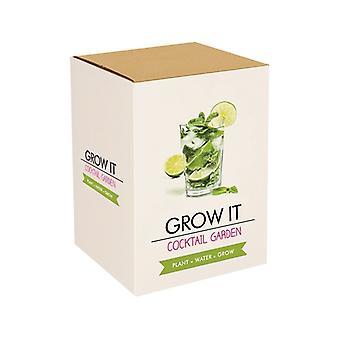 Grow it cocktail garden plants nursery set gift