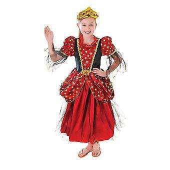 Guld Star Princess klänning (stora ålder 9-12)
